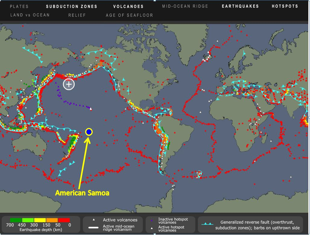american samoa natural hazards disasters and catastrophes the seismicity of american samoa