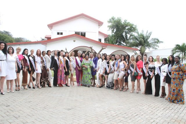 Exquisite Face Of Universe Queens Call On First Lady Rebecca Akufo-Addo