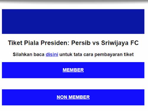 Cara beli tiket Persib Piala Presiden 2018