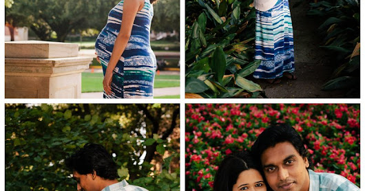 SMU Maternity Portraits in Dallas: Madhavi & Pradeep
