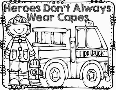 firefighter heroes coloring pages - photo#7