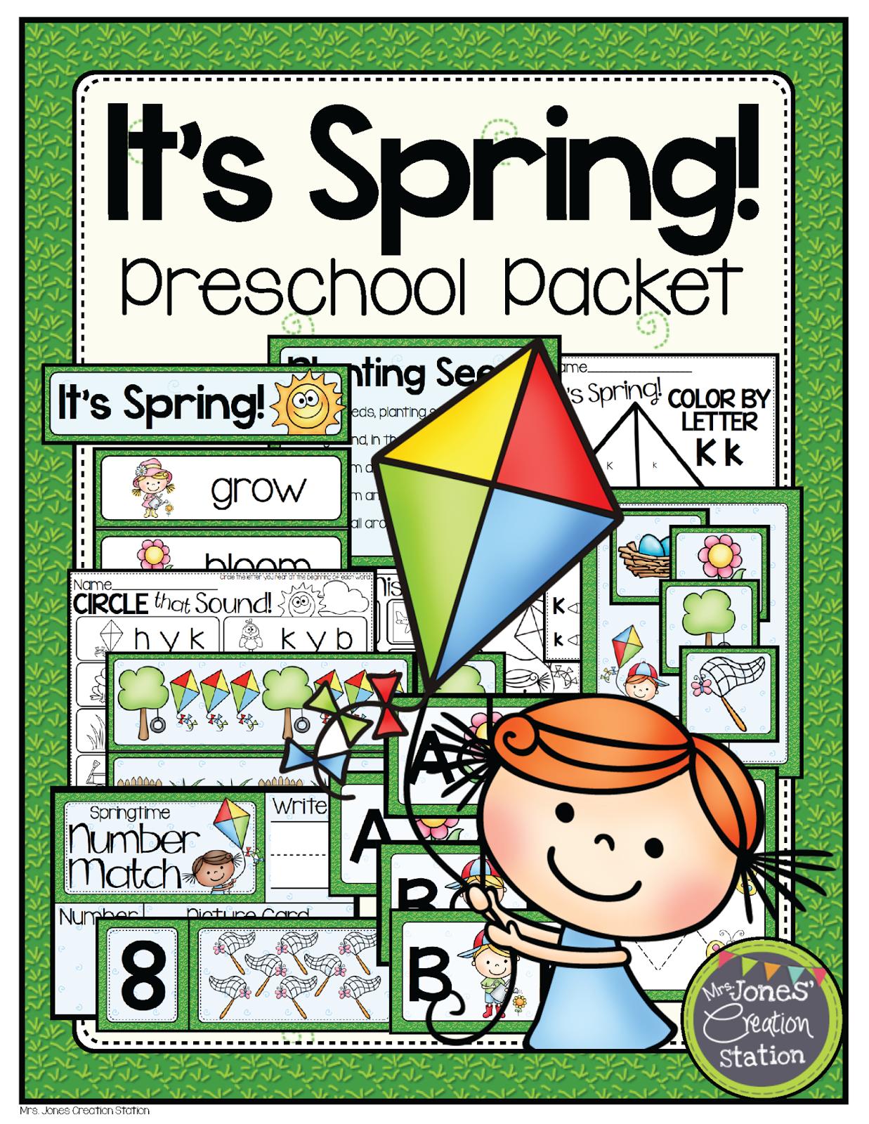 Mrs Jones Creation Station Spring Preschool Pack