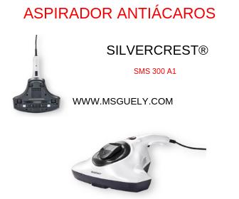 Silvercrest Aspirador antiácaros para colchones y