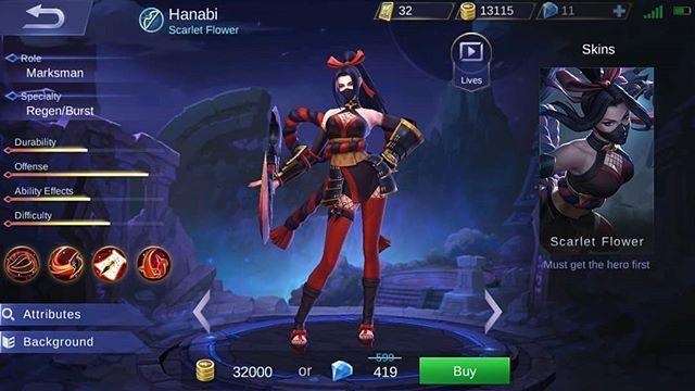 Bocoran Rilis Hanabi, Hero Marksman Terbaru Mobile Legends