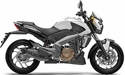 Bajaj Dominar 400 side white pics