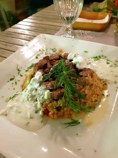 Istanbul, piatto tipico con riso speziato e carne al 5.Kat