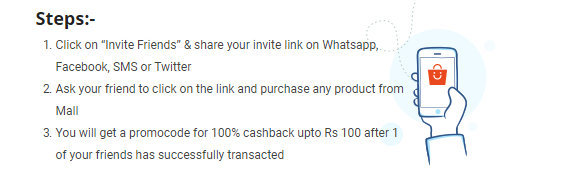 Refer and earn 100% cashback on Paytm Mall
