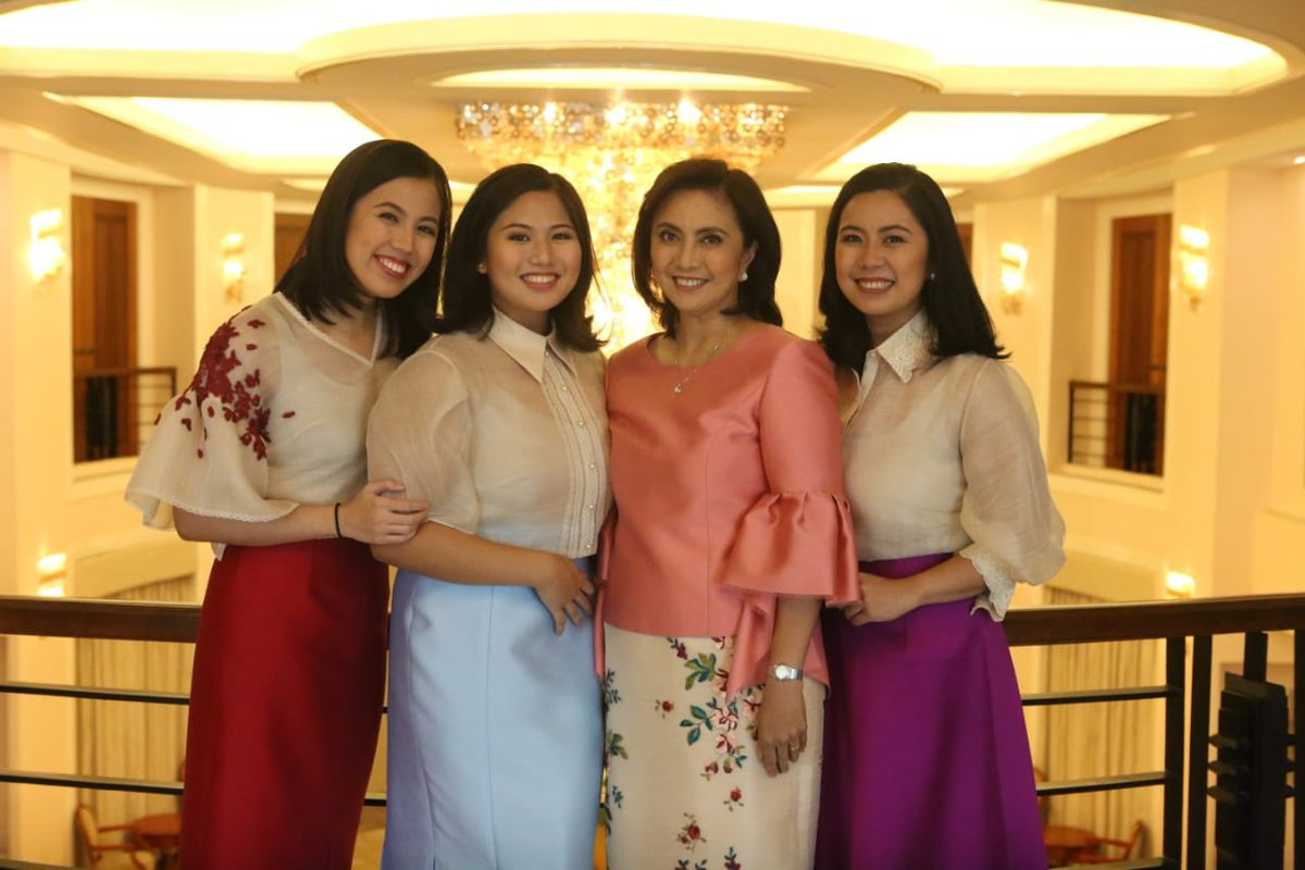 Vice President Leni Robredo and her daughters attend SONA 2018
