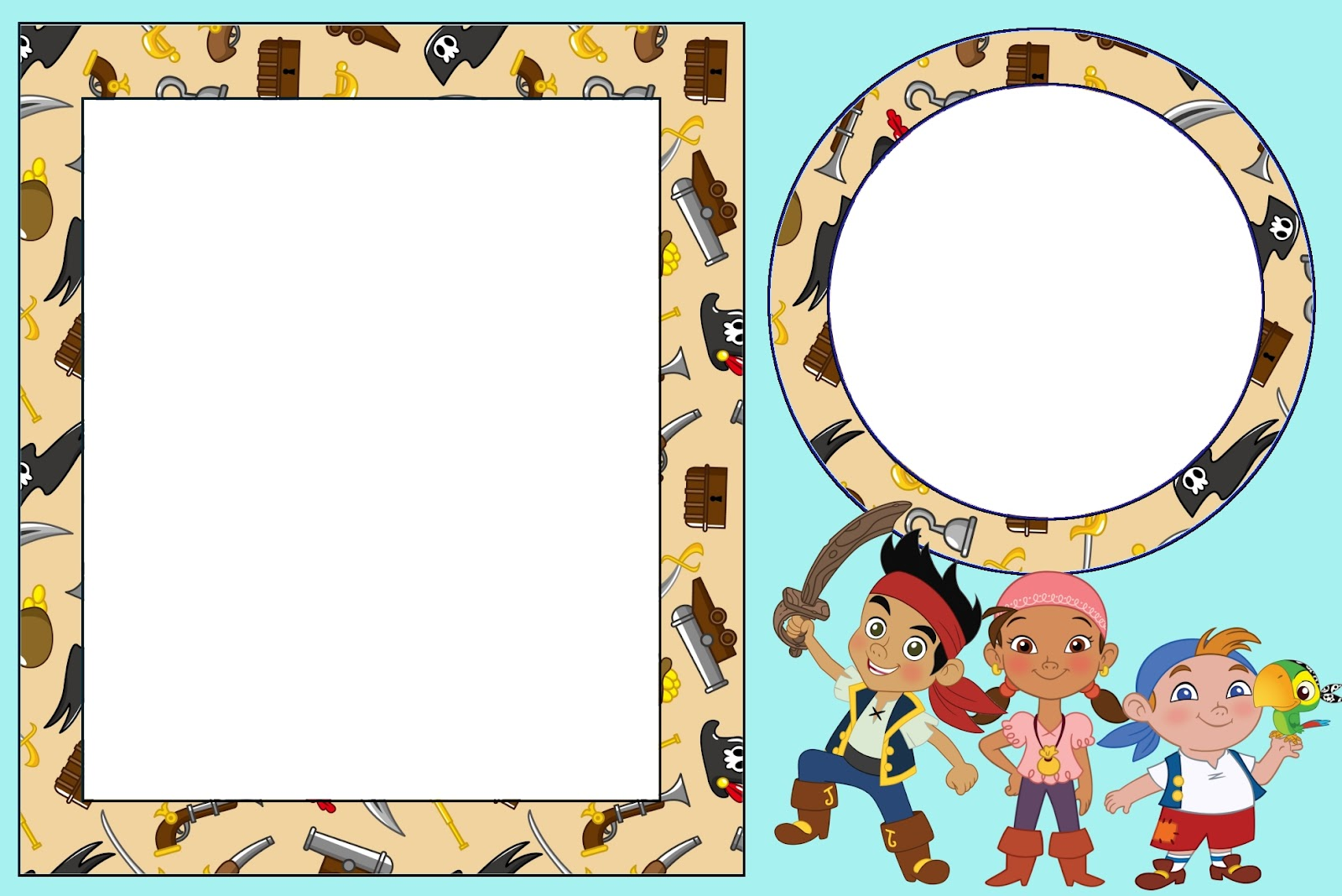 Inspired in Jake and the Neverland Pirates: Free Printable ...