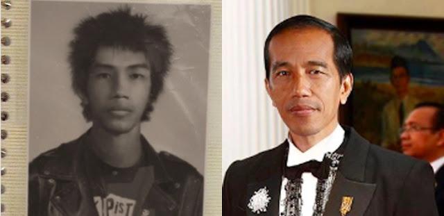 Foto Jadul Ini Viral, Benarkah Jokowi Bekas Anak Punk?