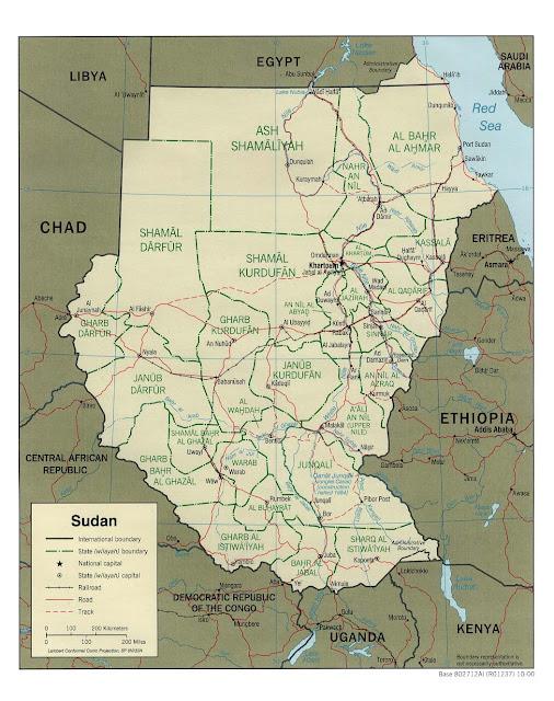 Mapas Geográficos do Sudão