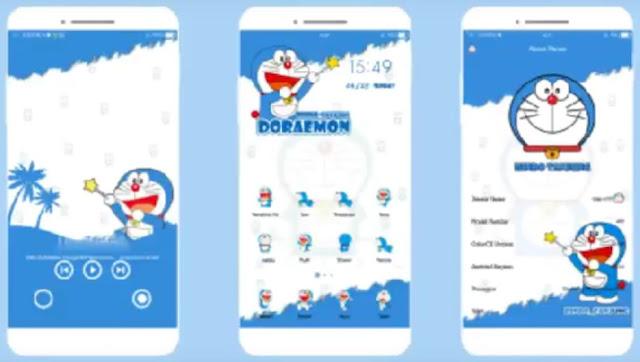 Tema Oppo Doraemon Simpel V800
