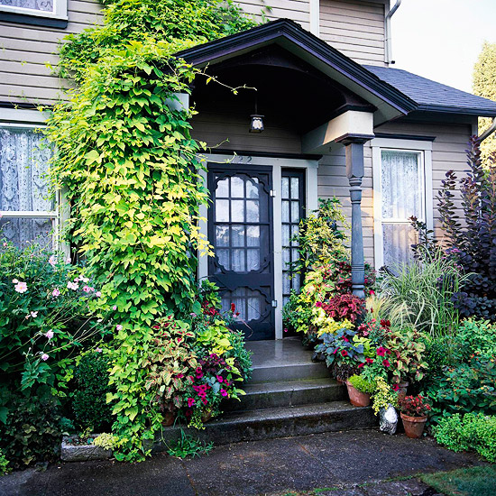 Best Front Garden Designs For Kerb Appeal: New Home Interior Design: Ways To Add Curb Appeal