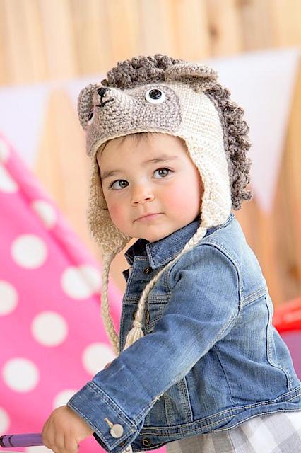 Baby hedgehog hat Crochet pattern