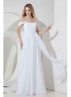 Casual Off White Beach Wedding Dress