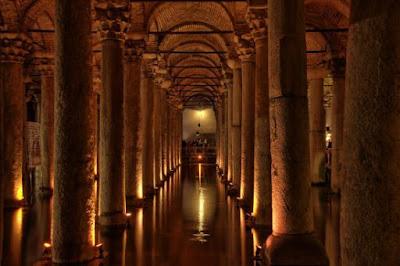 La Cisterna Basílica en Estambul, Turquía