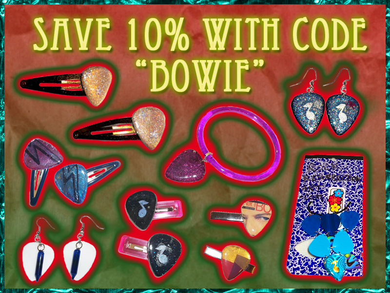 "Save with code ""Bowie"""