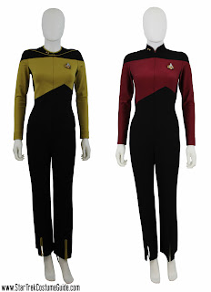 Front-zipping TNG jumpsuits