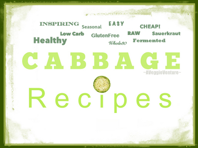 Tired of the same-old coleslaw? Find new inspiration in this collection of seasonal Cabbage Recipes (including Sauerkraut Recipes) ♥ AVeggieVenture.com, savory to sweet, salads to sides, soups to supper, sandwiches to smoothies, simple to special. Many Weight Watchers, vegan, gluten-free, low-carb, paleo, whole30 recipes.