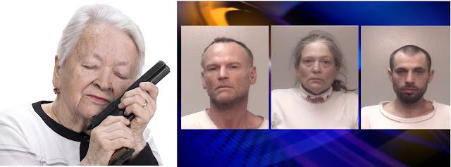 Idosa de 78 anos expulsa marginais de sua casa com uma pistola