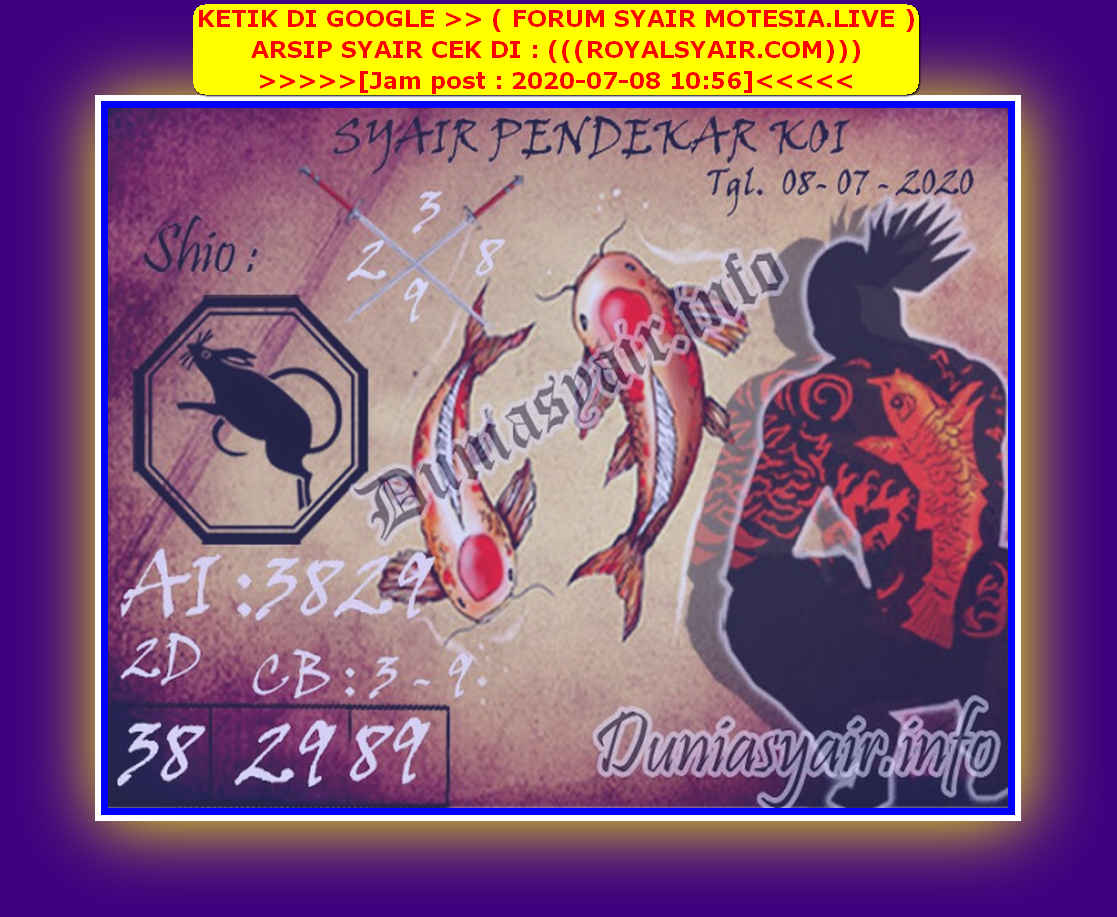 Kode syair Singapore Rabu 8 Juli 2020 160