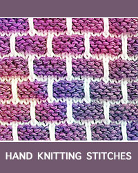 Learn Ballband Slip Stitch Pattern with our easy to follow instructions at HandKnittingStitches.com