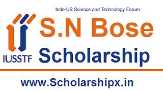IUSSTF S.N Bose Scholarship 2017-18