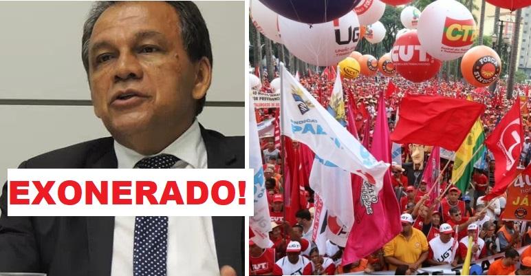 O secretário de Relações do Trabalho, Carlos Cavalcante Lacerda foi exonerado