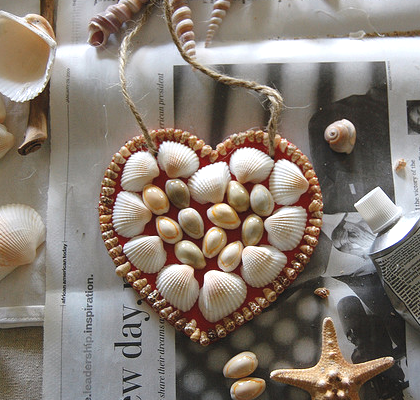 sea shell heart for Valentines