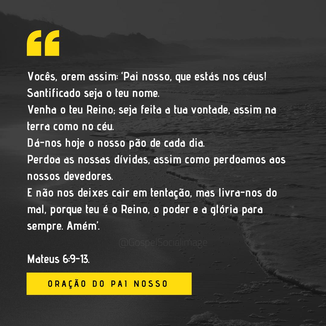 Imagem Oração Pai Nosso - Mateus 6.9-13