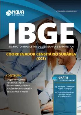 Apostila Concurso IBGE 2019 Coordenador Censitário Subárea Grátis Cursos Online
