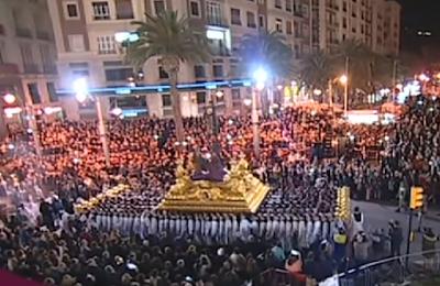 Málaga. Cristo de Mena, Hermosa marcha de semana santa.