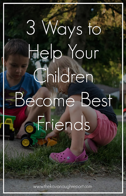 Siblings can be good friends, they can even be best friends. Here are 3 ways to help your children become best friends.