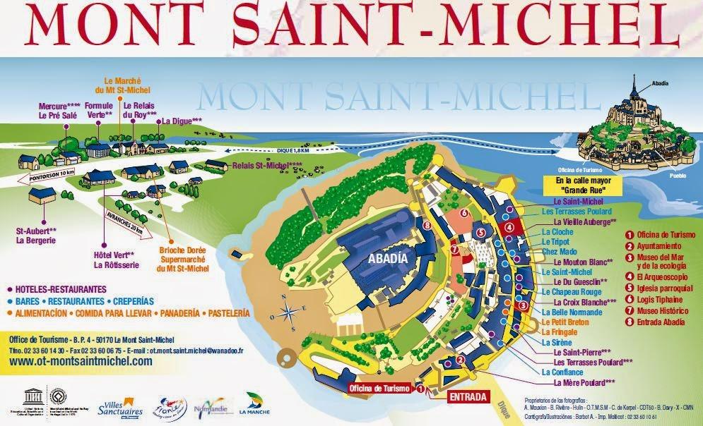 Plano del Mont Saint Michel.