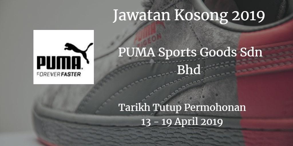 Jawatan Kosong PUMA Sports Goods Sdn Bhd 13 - 19 April 2019