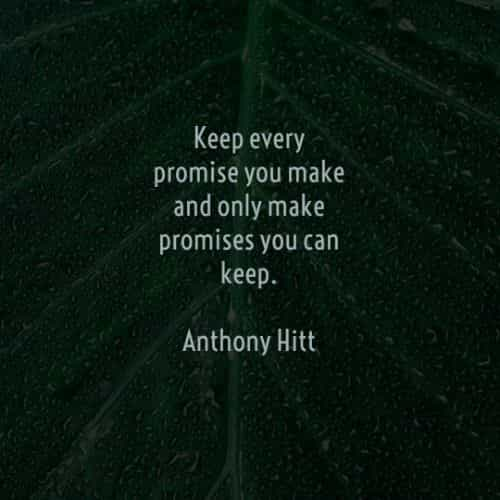Best promise quotes and inspirational sayings