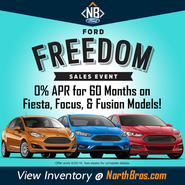 Find Your Freedom with the Ford Fiesta, Focus, and Fusion at North Brothers