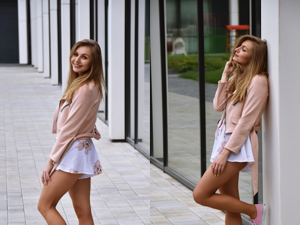 |OUTFIT| PINK JACKET WITH OVERAL