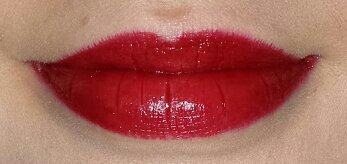 Avon Ultra Colour Indulgence Lipstick Red Dahlia Lip Swatch