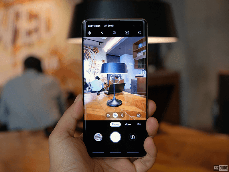 Samsung camera app interface