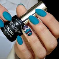Manicure hybrydowy - Cosmetics Zone 027 Cavansyt + wiosenne zdobienie