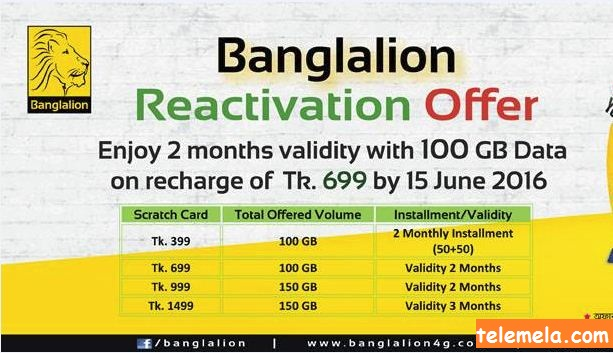 Banglalion prepaid reactivation offer