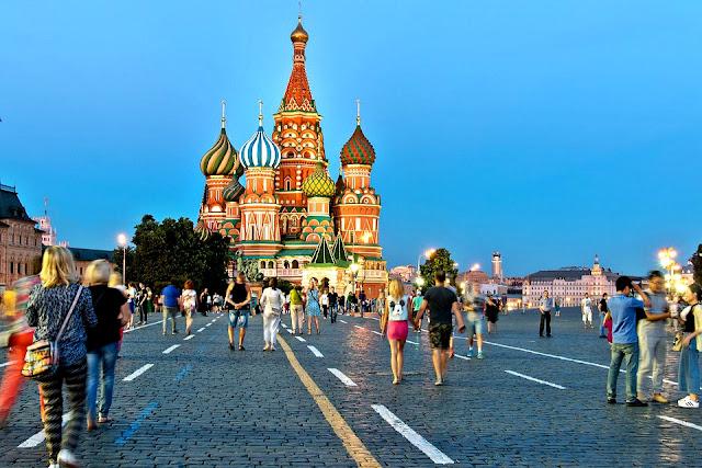 Basílica de São Basílio  na Praça Vermelha de Moscou.