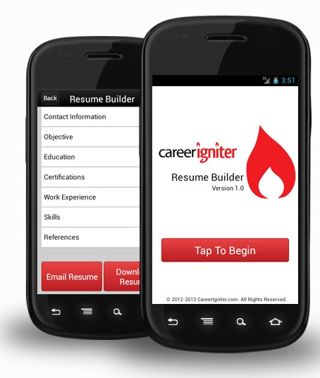 my resume app my resume builder cv free jobs android apps on