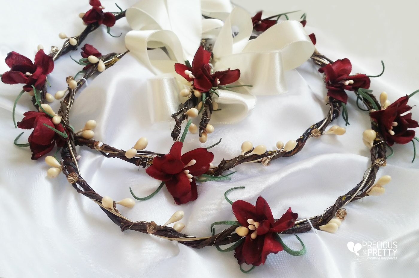 Flower crowns burgundy