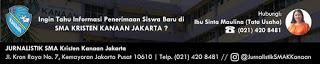 Tangguh dalam Iman, Unggul dalam Prestasi, Santun dalam Budi Pekerti SMA Kanaan Jakarta Pilihan Paling Tepat
