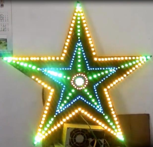 Led ngôi sao đêm Noel