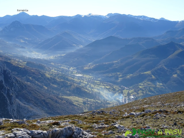 Vista del Ferreirúa desde Peña Gradura