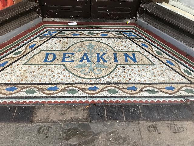 Deakin, Doorway mosaic, Canterbury, Kent
