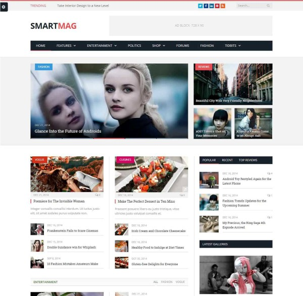 Smartmag responsive retina ready